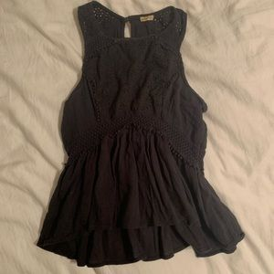 Hollister Top with Eyelet & Crochet Detail